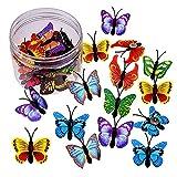 30 pinzas de mariposa, fotos de pared, pizarras de corcho para oficina, hogar, escuela, mapas de anuncios (patrón aleatorio)