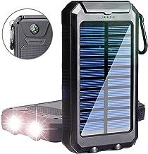 Phone Solar Charger,Yelomin 20000mAh Portable Outdoor Mobile Power Bank,Camping External Backup Battery Pack Dual USB 5V 1...