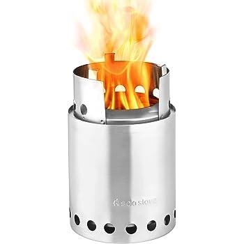 Solo Stove Titan - die größere Version des Solo Stove Originalmodells. Leichter Holzofen mit Rocket-Kochsystem. Kompaktes Küchenset für Backpacking, Camping, Überlebenstraining, Vorbereitung auf Notfälle. Verbrennt Zweige - keine Batterien oder Kanister mit Flüssigbrennstoff notwendig.
