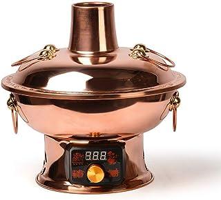 MUBAY Tradicional China Antigua Olla de Cosecha Electro-Carbono de Doble Uso de Hot Pot, Pantalla Digital de Cobre de Gran Capacidad de diseño Chino
