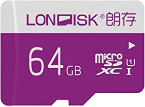 LONDISK Micro SD Card 64GB SDXC Memory Card  C10 U1 Micro SD Card for Mobile/Tablet/GoPro(U1 64GB)