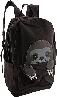 Sleepyville Critters Peeking Baby Sloth Canvas Backpack