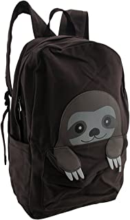 Sleepyville Critters Peeking Baby Sloth Canvas Backpack