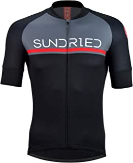 Sundried Mens Short Sleeve Cycling Jersey Road Bike Cycling Top Mountain Bike Shirt
