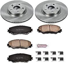 Power Stop KOE4669 Front Brake Kit- Stock Replacement Brake Rotors and Ceramic Brake Pads