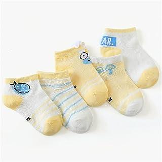 جورب 5 أزواج/مجموعة من 0 إلى 5 سنوات جوارب ربيع صيفية رقيقة للبنات والأولاد جوارب قصيرة للأطفال حديثي الولادة جوارب قصيرة...