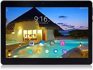 10インチ4コアCPU Android 7.0タブレット2GB RAM 32GB内部メモリWIFIカメラGPSデュアルSIMネットワークロックなし3Gタブレット電話 (メタルブラック)
