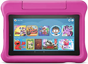 """Fire 7 Kids Tablet, 7"""" display, ages 3-7, with 2-year warranty, thousands of apps, games, books and more included for 1 ye..."""