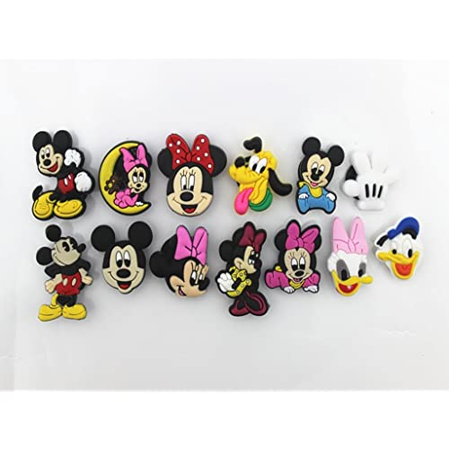 b14a566b4 12 (Mickey Minnie Mouse Donald Duck)shoe Charms Fits Croc Shoes   Bracelet  Wristband