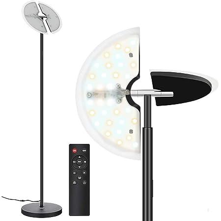 Svater Lampadaire LED Dimmable 30W LED Lampe 3 Températures de Couleur 3800Lm, Contrôle Tactile-Télécommande de Lampe sur Pied pour Salon, Chambre, Bureau