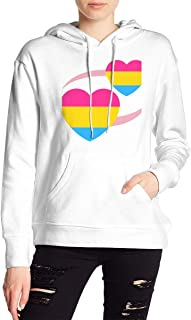 VJJ AIDEAR Hearts_Pansexual Women's Sweater Printed Hoodied Long Sleeve Coat