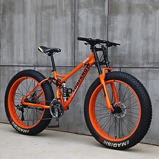 Wind Greeting 66 cm mountainbike, 24-hastighetscykel, vuxenfettdäck mountainbike, stålram med hög kolhalt dubbel full fjäd...