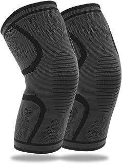 TECHVIDA Knee Brace Support Compression Sleeves, knee sleeves, Knee cover, Knee Supporter for Running, Pain Relief (L-1 Pair)