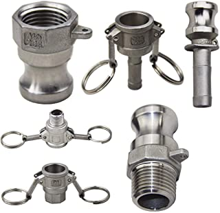 1Pc 304 Stainless Steel Homebrew Camlock Fitting Adapter 1/2