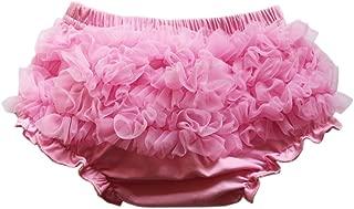 Wennikids Baby Girls Newborn Chiffon Bloomers,Diaper Cover,Ruffles Bloomers