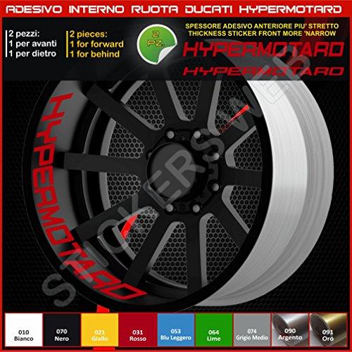 Bandes adhésives pour intérieur de roues pour Ducati Hypermotard, référence 0220 031 Rosso
