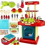 Vaorwne 1 Satz tragbare rot elektronische Kinder Kinder Kueche Kochen Maedchen Spielzeug Herd Spielset