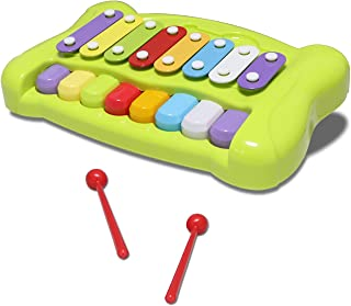 JINRUCHE Kids Piano Keyboard Xylophone 2 in 1 Percussion Toy