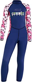 DIVE & SAIL Kids Rash Guard Wetsuit,Youth Girls and Boys Swimsuit One Piece Water Sports Sunsuit Swimwear Sets (Girl's Swi...