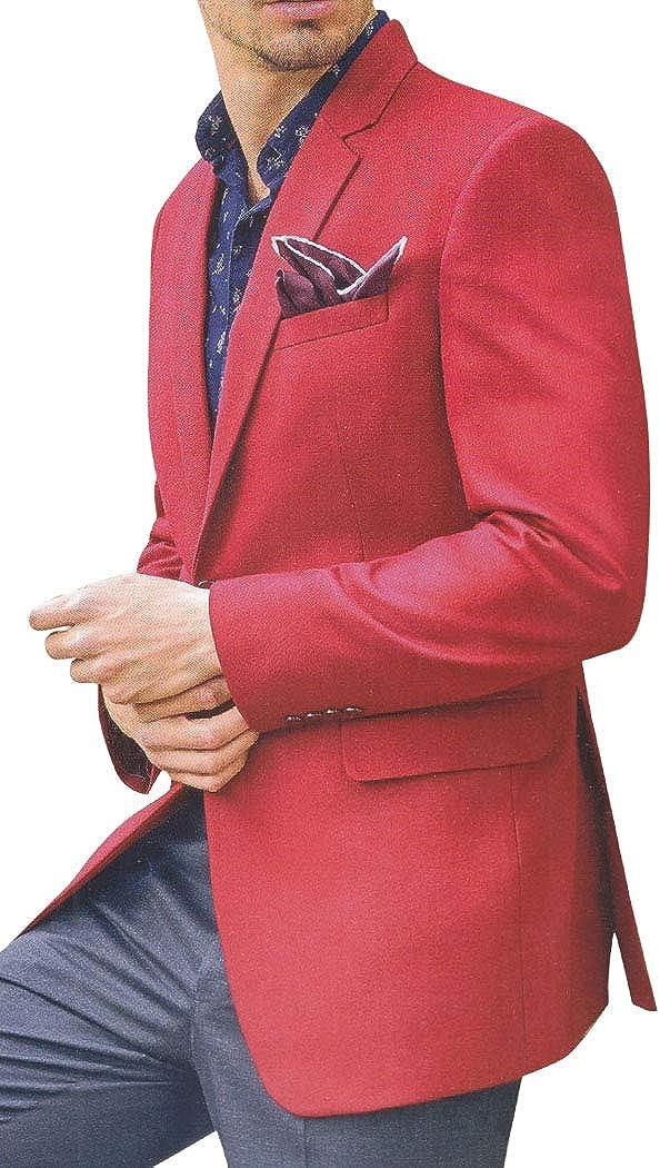 INMONARCH Mens Slim fit Red Blazer Sport Jacket Coat VBN14719R54 54 Regular Red