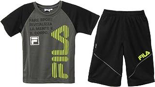 FILA 半袖 Tシャツ ハーフパンツ ジャージ 上下セット 130cm 140cm 150cm 160cm 04チャコール 23レッド D1916