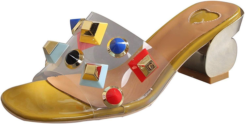 GTVERNH Sautope da Donna Rivetti Pantofole Seali Donne Estate Dura E in Pantofole Corrispondono A Coloreei E Forte con Il Sesso Opposto.