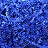 Contains two pound of gift crinkle paper shredded These royal blue wrapping paper are made with crinkle cut paper Makes a great bed for gift basket One pound can easily filled four small gift basket. If you used sparingly, this shred can go quite a w...
