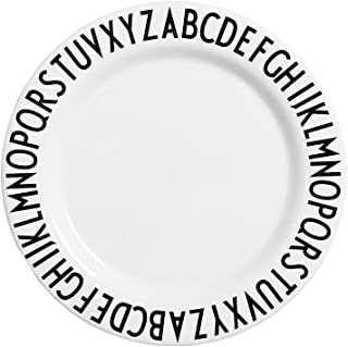 Design Letters - Melamine Alphabet Plate - White - 7.8 Inches