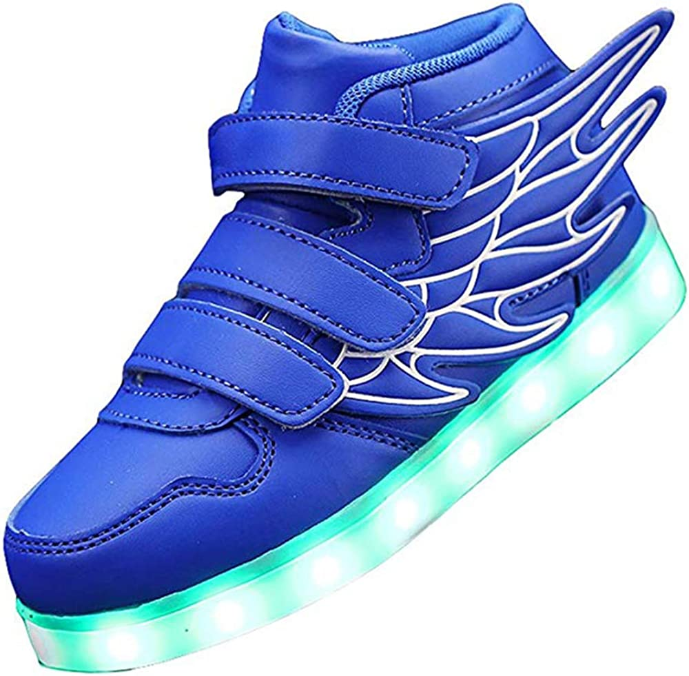 KARKEIN Sales results No. 1 LED Light Up Hi-Top USB Flashin Elegant Wings Shoes Rechargeable