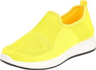 Cambridge Select Women's Lightweight Knit Slip-On Casual Sport Fashion Sneaker