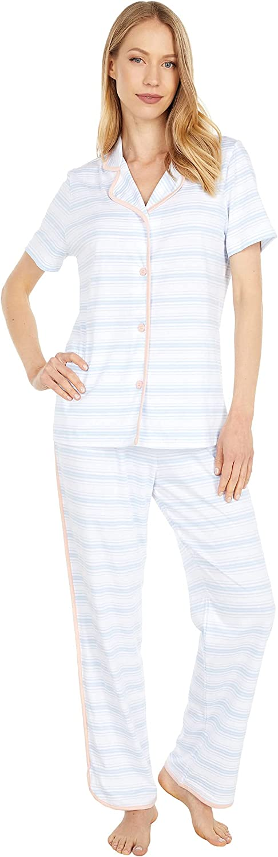 Cosabella Women's Florida Printed Short Sleeve Top & Pant Set