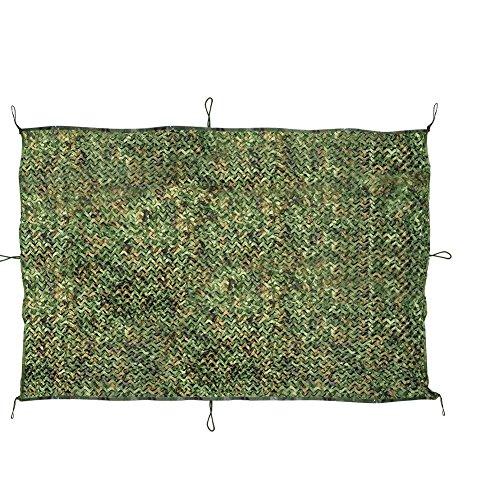 JTDEAL Filet de Camouflage, 2 m X 3 m Armée Militaire Chasse Forêt Filet de Camouflable pour Camping, Soleil en Plein Air, Thème Parti Décoration, Voiture Couvre