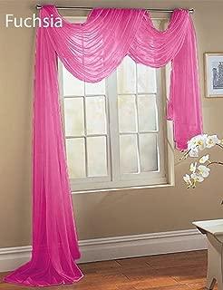 GorgeousHomeLinenDifferent Colors & Sizes 1 Sheer Panel or 1 Scarf Valance Drapes Voile Window Treatments Rod Pocket Curtain or Elegant Swag Valance (37