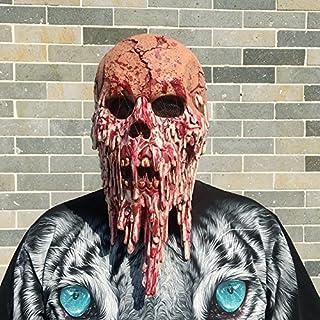 Morbuy Terror Máscara de Halloween Adulto Látex Novedad Horror Espeluznante Cabeza Máscaras Cara Fiesta de Disfraces Cosp...