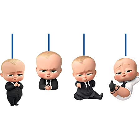 WoW Party Studio Boss Baby Theme Ceiling Hangings / Danglers for Birthday Party Decoration - 12 Pcs
