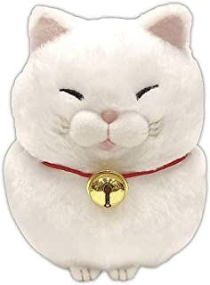 Amuse Higemanjyu Series Plush Cat Doll White 'Mochio' Standard Size (5
