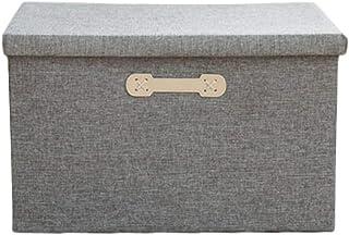 SIBKE Organisateur De Rangement Pliant, Panier De Rangement en Tissu De Coton avec Poignée, Conteneur De Rangement De Gran...