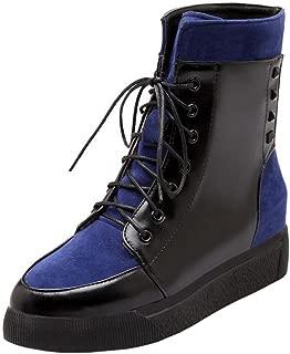 RAZAMAZA Women Fashion Platform Lace up Ankle Martin Boots