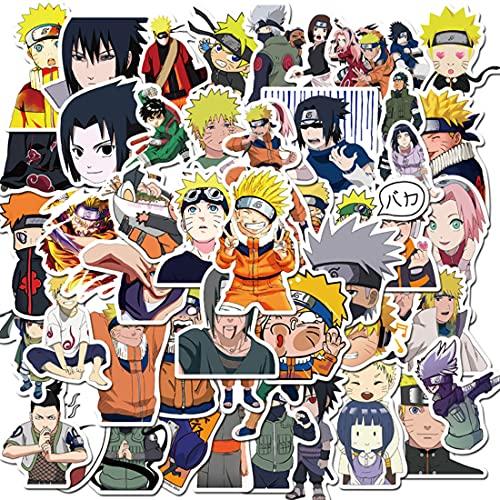 Wopin 100 pegatinas de anime Naruto impermeables para niños, adolescentes, adultos, vinilo para portátiles para botellas de agua, equipaje, monopatín, parches de graffiti