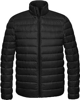 Wantdo Men's Packable Stand Collar Lightweight Down Puffer Jacket