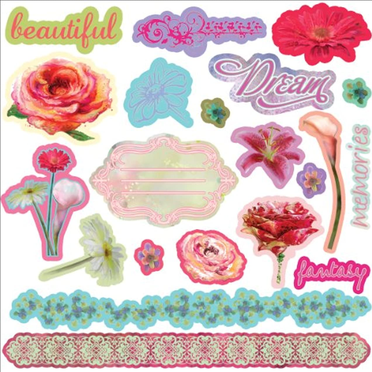 Firefly Self-Adhesive Chipboard Pieces 24/Pkg-Assorted Sizes From 1