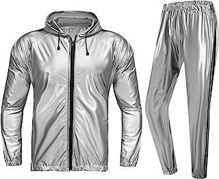 REEDBEEK Weight Loss Sweat Suit Full Zip Sauna Suit for Men Women Heavy Duty Fitness Exercise Gym Suit