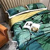 MZW Trapunta Trapuntata Lavabile Estiva Tencel Coperta Verde Fiore Aria condizionata trapunte copriletto Matrimoniale King Size, Trapunta 03,1pc 220x240 cm