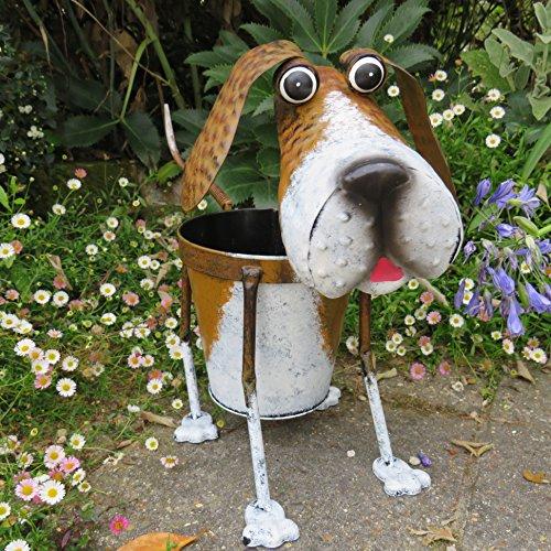 Nodding Metal Dog Planter