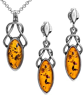 Amber Sterling Silver Rubber Chrystal Wise Owl Necklace