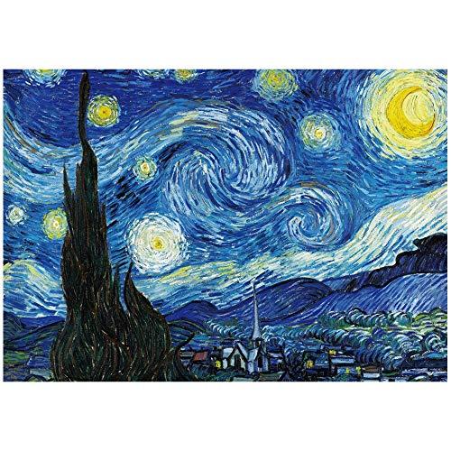 Rompecabezas para Adultos Rompecabezas De 2000 Piezas Niños Juego Intelectual Aprendizaje Educación Educación Juguetes De Descompresión - La Noche Estrellada Van Gogh