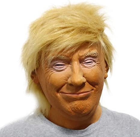 Adult Donald Trump Halloween Full-head Latex Mask Cosplay Costume Funny US Stock