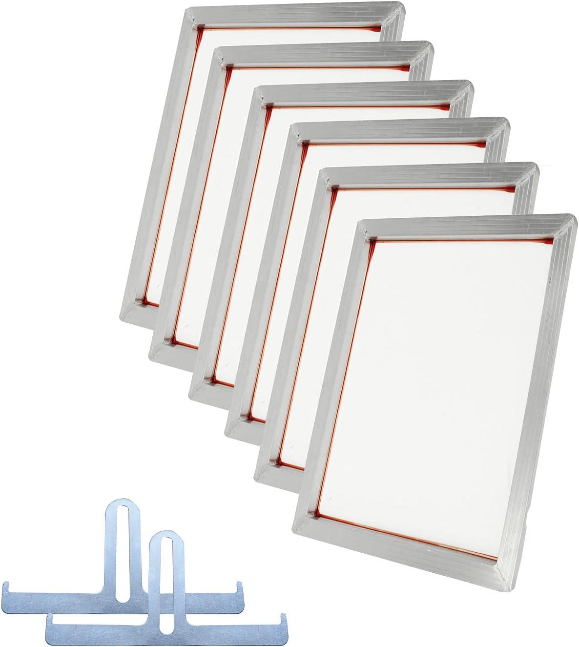 TECHTONGDA 6Pcs 110 Mesh 43T Screen Fra Ranking TOP18 Long-awaited 8x14inch Silk Printing