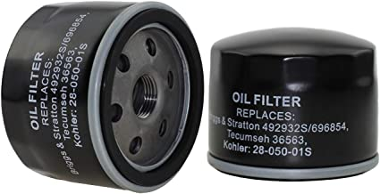 Parts Camp Oil Filter Replacement Kawasaki 49065-7002 Fit Kohler 28-050-01S Stens 120-485 Briggs & Stratton 492932S 696854 695396