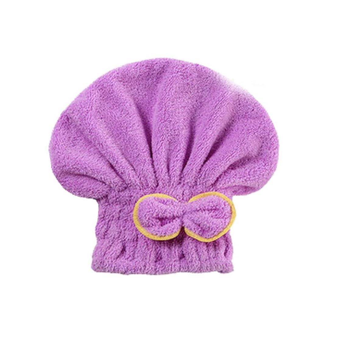 災害弾丸シリーズYUXUANCIXIU シャワーキャップ、女性用ドライシャワーキャップ女性用のデラックスシャワーキャップ長さと太さ、再利用可能なシャワー。 家庭用品 (Color : Purple)